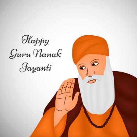 illustration of elements of Sikh festival Guru Nanak Jayanti Background Stock Vector - 84651114