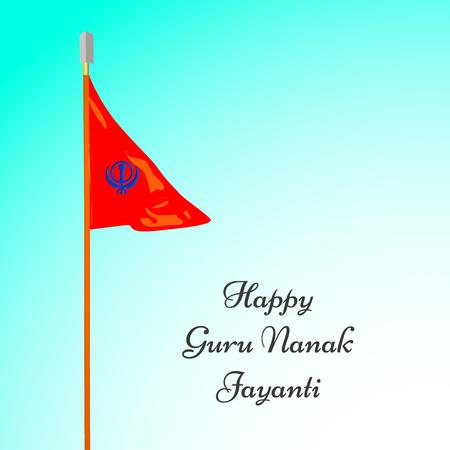 illustration of elements of Sikh festival Guru Nanak Jayanti Background Stock Vector - 84651123