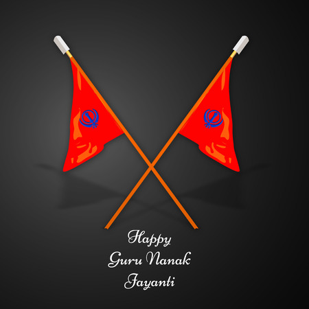illustration of elements of Sikh festival Guru Nanak Jayanti Background Stock Vector - 84650847