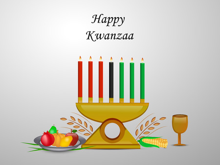 Illustration of elements of Kwanzaa Background. Kwanzaa is a week long celebration held in the United States to honor universal African heritage and culture Illustration