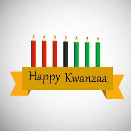 kwanzaa: Illustration of elements of Kwanzaa Background. Kwanzaa is a week long celebration held in the United States to honor universal African heritage and culture Illustration