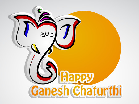 Illustration of Lord Ganesha for the hindu festival Ganesh Chaturthi celebrated in India