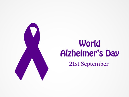 illustration of elements of World Alzheimer's Day Background Ilustração