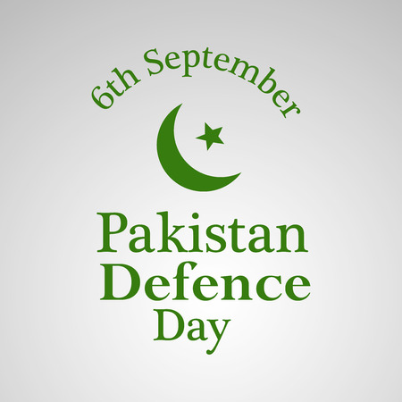 6th: illustration of elements of Pakistan Defence Day Background Illustration