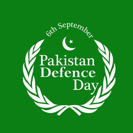 illustration of elements of Pakistan Defence Day Background Vetores