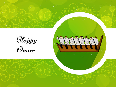 illustration of elements of South Indian Festival Onam Background