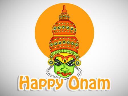 illustration of elements of South Indian Festival Onam Background