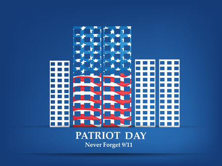 illustration of elements of Patriot Day Background