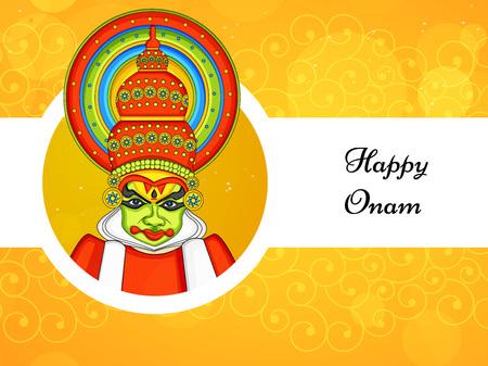 illustration of South Indian Festival Onam background
