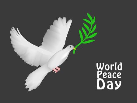 World peace day illustration.