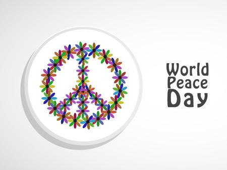 web site design template: World peace day illustration.