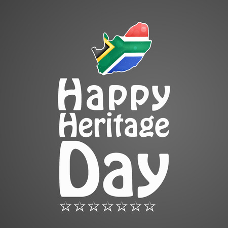 Illustration of elements of South Africa Heritage Day background. Illustration