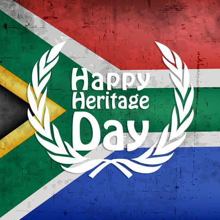 Illustration of elements of South Africa Heritage Day background.