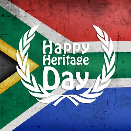 Ilustración de elementos del fondo del día de la herencia de Suráfrica.
