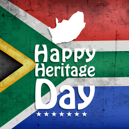 Illustration of elements of South Africa Heritage Day background. Çizim