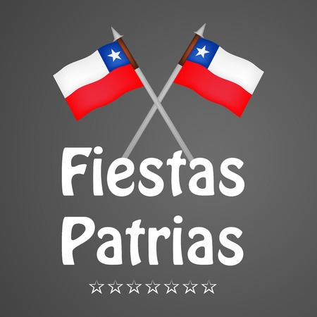 Illustration of elements of Chiles National Independence Day Background. Illustration