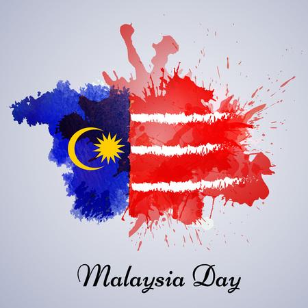 illustratie van elementen van Maleisië Independence Day achtergrond