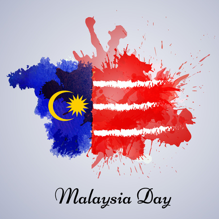illustration of elements of Malaysia Independence Day background Ilustrace