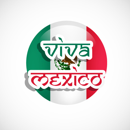 web site design template: Illustration of elements of Mexico Independence Day Background