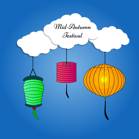 illustration of elements of Mid Autumn Festival background