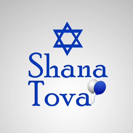 illustration of elements of Jewish New Year Shanah Tovah background Illustration