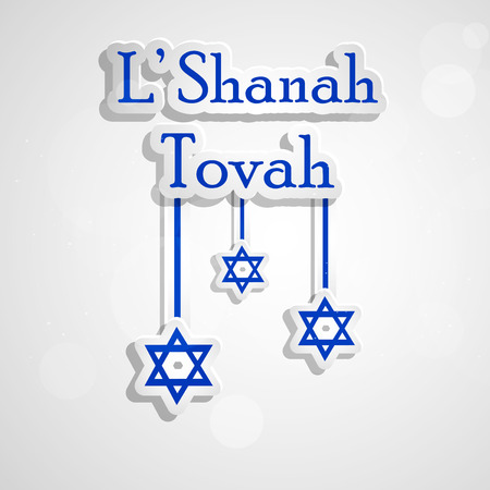 illustration of elements of Jewish New Year Shanah Tovah background Stock Illustratie
