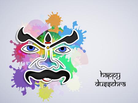 gods: illustration of elements of hindu festival Dussehra background