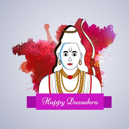 illustration of elements of hindu festival Dussehra background