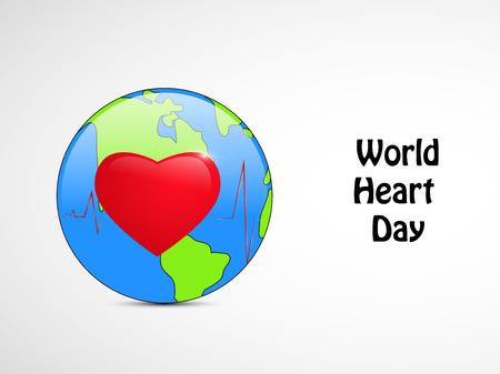 World Heart Day banner. Illustration