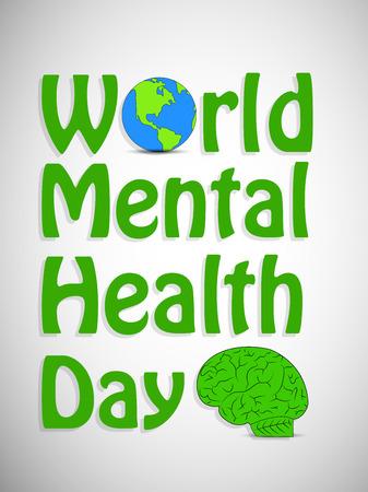 Illustratie van de wereld geestelijke gezondheidsdag Stock Illustratie