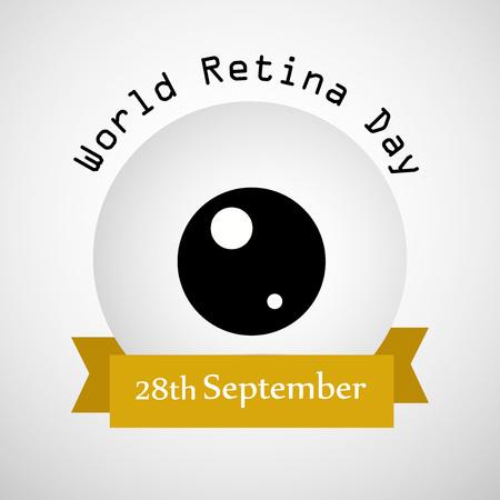 illustration of elements of World Retina Day Illustration