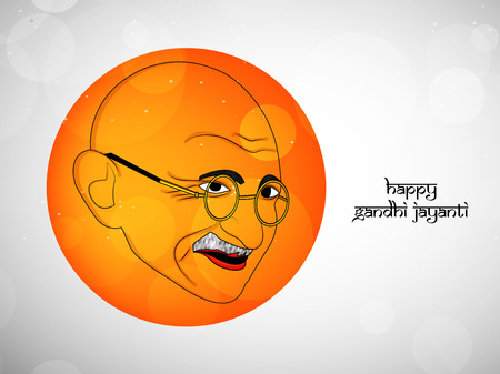 illustration of elements of Gandhi Jayanti Background