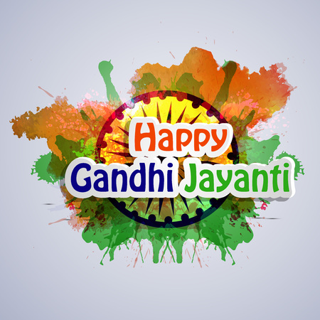 Illustration of elements of Gandhi Jayanti Background. Illustration