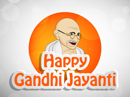 Illustration of elements of Gandhi Jayanti. Illustration