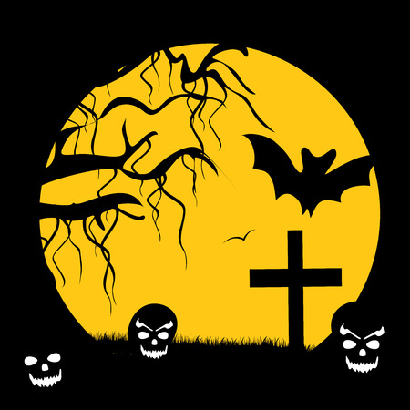 An illustration of elements of Halloween Background