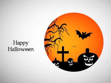 Illustration of elements of Halloween Background