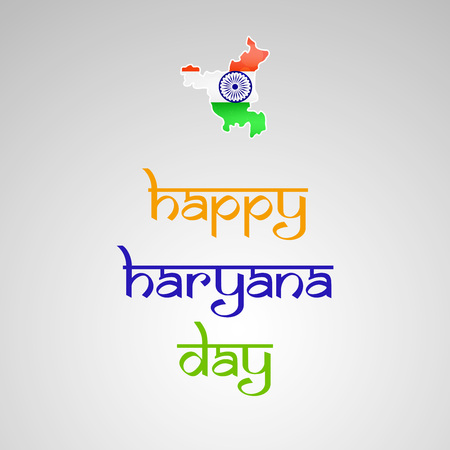 Illustration of background For Indain state Haryana Day