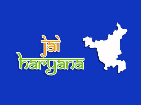 Illustration of Indian state Haryana Divas background