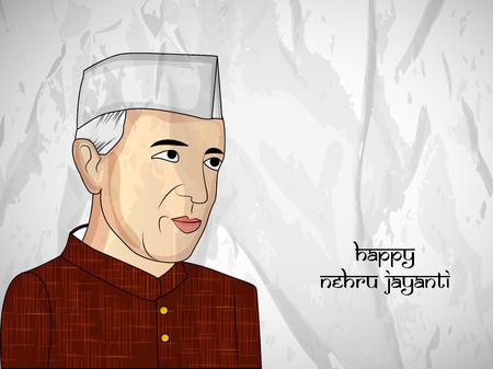 Illustration of Jawaharlal Nehru Jayanti