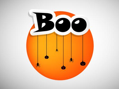 illustratie van elementen van Halloween achtergrond Vector Illustratie