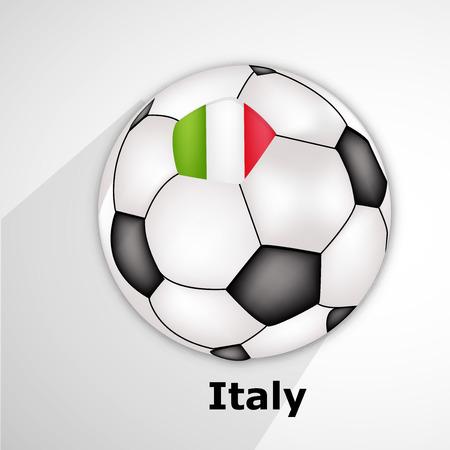 Illustration of soccer game background