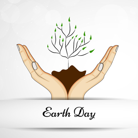 Illustration of background for Earth Day