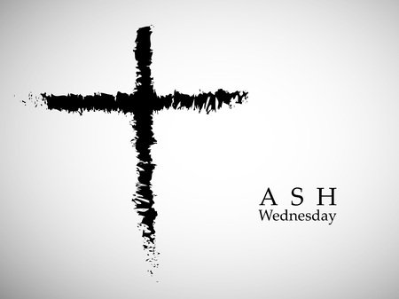 Illustration of background for Ash Wednesday. Illustration