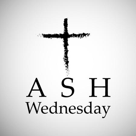 Illustration of background for Ash Wednesday. Illustration