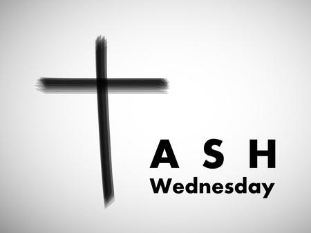 Illustration of background for Ash Wednesday. Иллюстрация