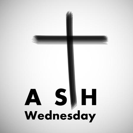 Illustration of background for Ash Wednesday. Illusztráció