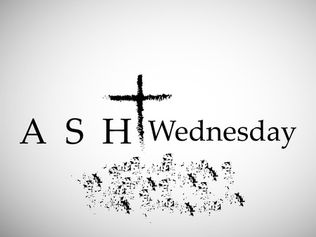 Illustration of background for Ash Wednesday Illustration