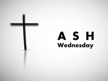 Illustration of background for Ash Wednesday Illusztráció