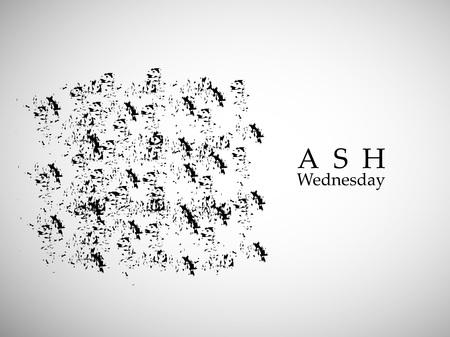 Illustration of background for Ash Wednesday Illusztráció