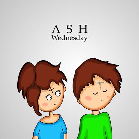 Illustration of background for Ash Wednesday Vettoriali